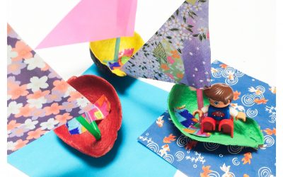 Simple Avocado Boat Craft for Kids