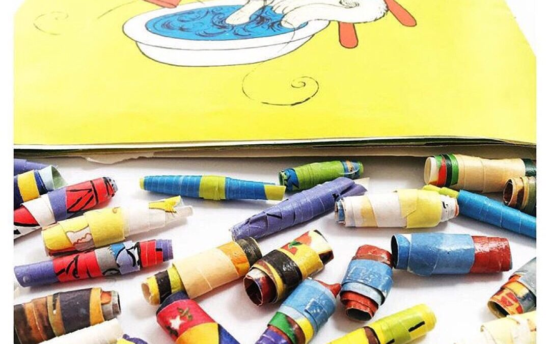 Make Paper Beads Using Old Picture Books