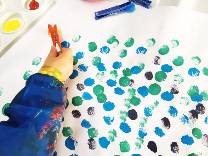 Tips for painting with a toddler