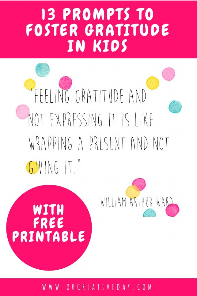 How do you foster gratitude in kids? I've created a simple Spring Gratitude Challenge that aims to provide families with conversational opportunities about gratitude and its importance to a happy life.