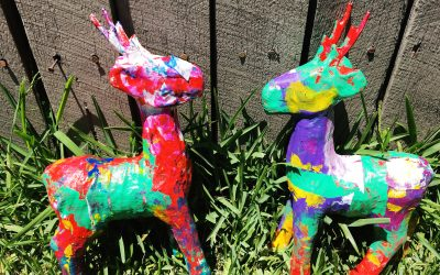 Christmas Craft for Kids: Painted Reindeers