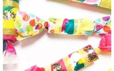 DIY Christmas Crackers Using Kids' Artwork
