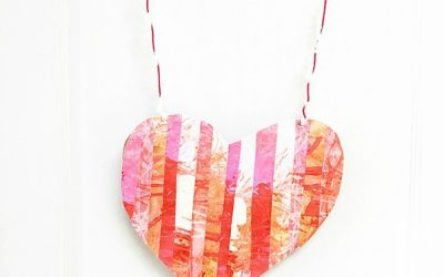 Process Art Valentine's Wall Hanging