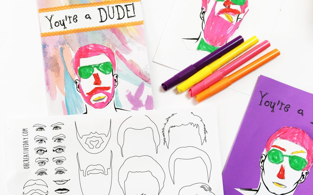 Free Printable Father's Day Card: You're A Dude! Card