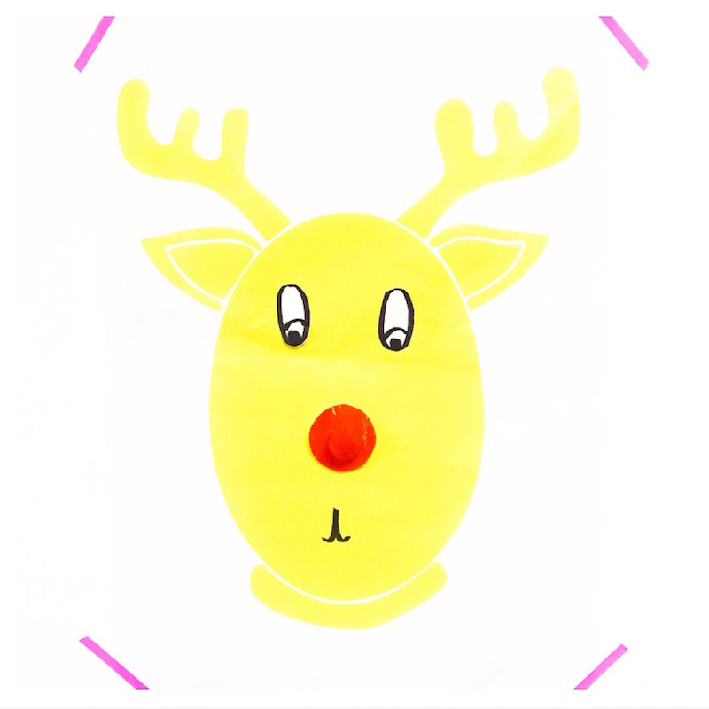 image relating to Pin the Nose on the Reindeer Printable identify Cost-free Printable Pin the Nose upon Rudolph - Oh Imaginative Working day