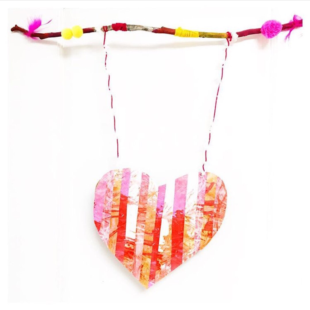 What happens when you combine painting and spaghetti? This child-led process art project that can be turned into a lovely Valentine's Day craft.