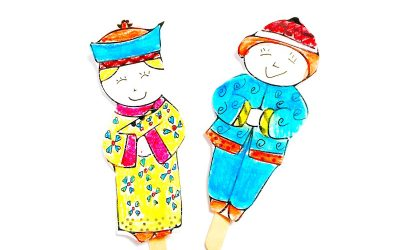 Chinese New Year Craft: Finger Puppets