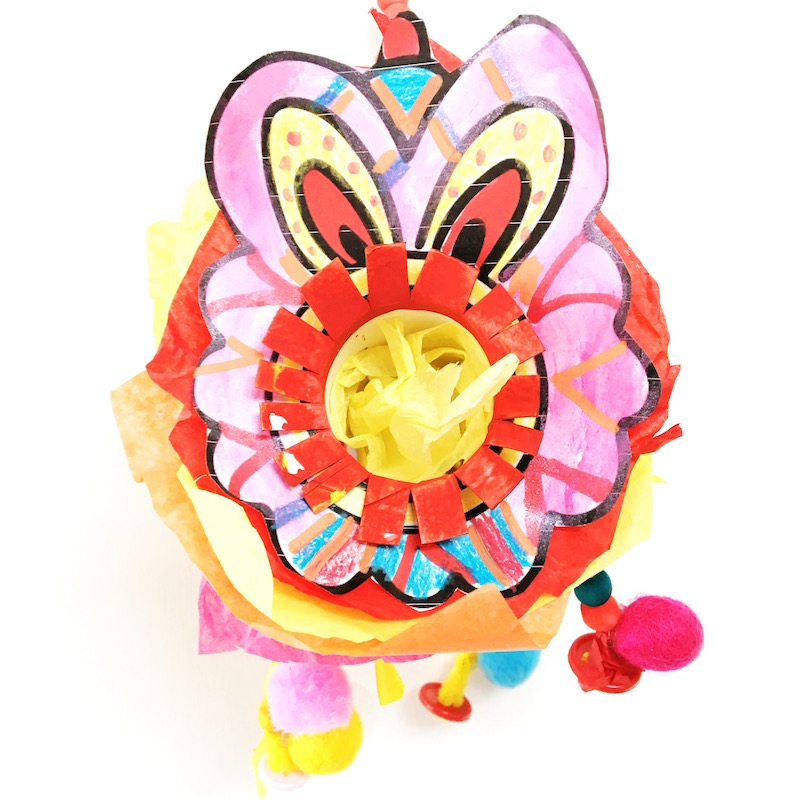 Image of a lion dance craft for Chinese New Year for children