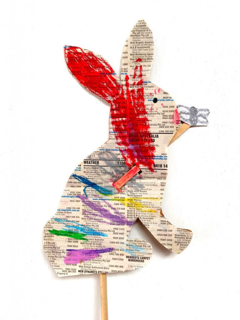 A kids craft project about Peter Rabbit