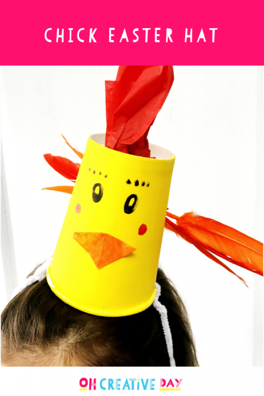Text Overlay Chick Easter Hat