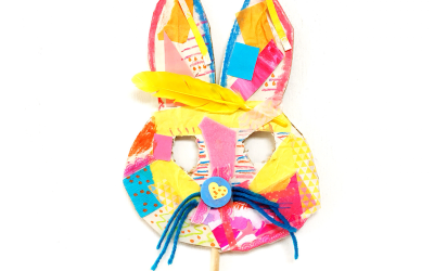 Collage Bunny Easter Mask