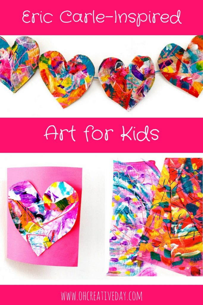 Kids can create homemade cards and garlands and whatever their imagination fancies with this simple Eric Carle art project that introduces mini makers to the glorious collage technique of one of the world's greatest picture book creators. #kidsart #ericcarle #kidsactivities #homemadecards #kidscraft