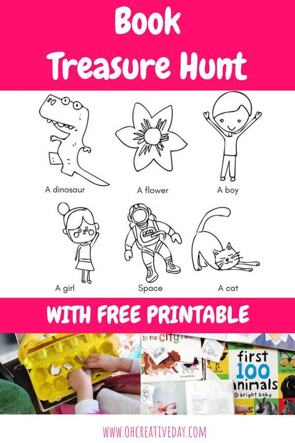 A treasure hunt printable for Book Week
