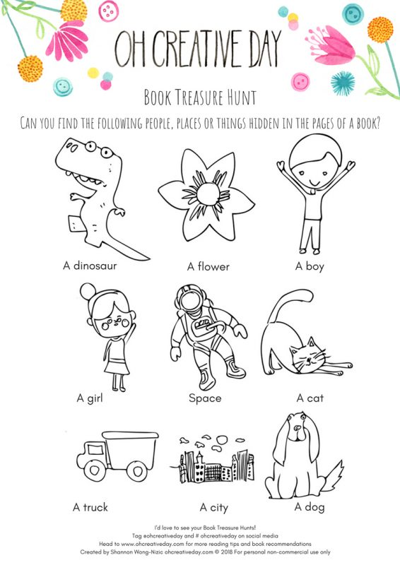 Free printable for a book treasure hunt for book week