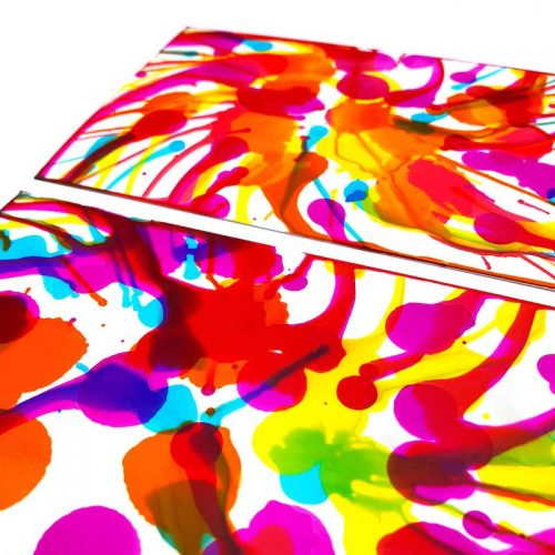 Images of water colour art on photo paper