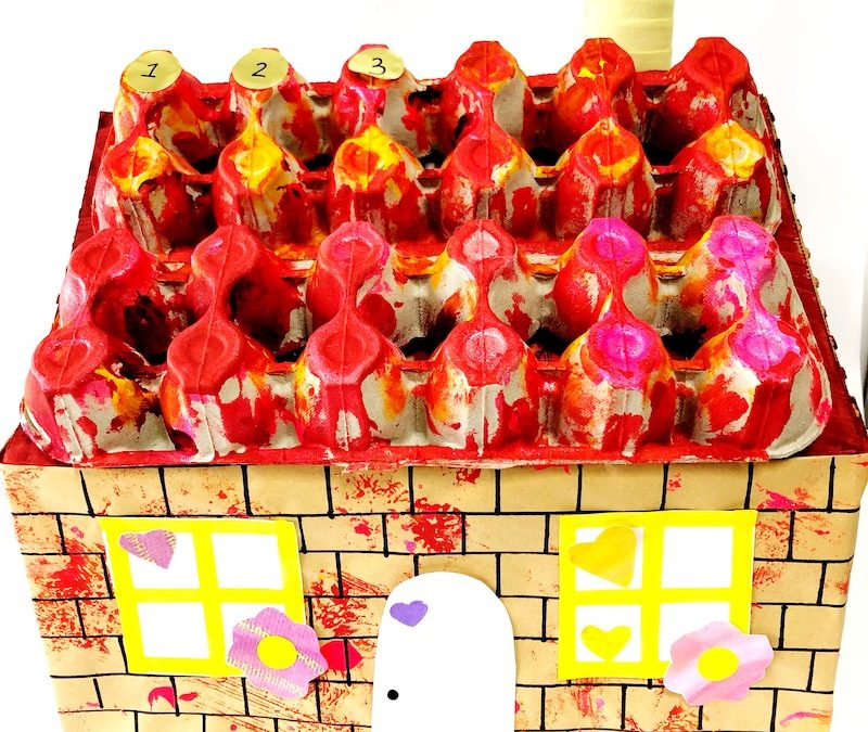 DIY Advent Calendar for Kids From Recyclables