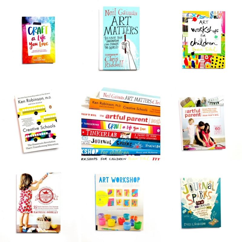 Here are some of my favourite books for mums who value creativity or who are looking to embrace getting creative with their little ones. #creativemums #booksforcreativemums #booksformumswhovaluecreativity