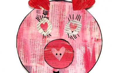 Painted Paper Pig Craft for Preschoolers