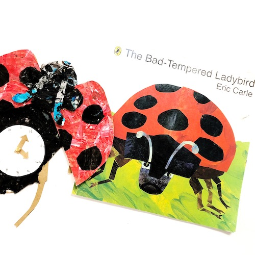 The Grouchy Ladybug Craft and Telling Time Activity