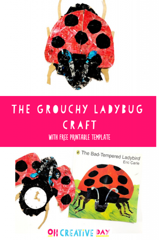 A Grouchy Ladybug craft featuring kids craft