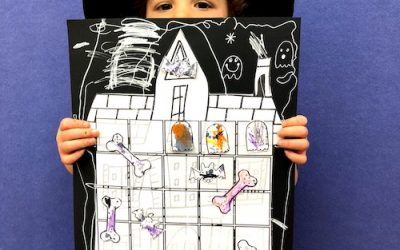 Haunted House Craft : Printable Board Game