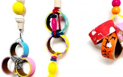 Upcycled Necklace Craft for Kids
