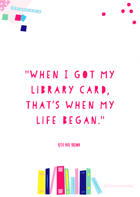 Posters featuring quotes for Library Lovers' Day