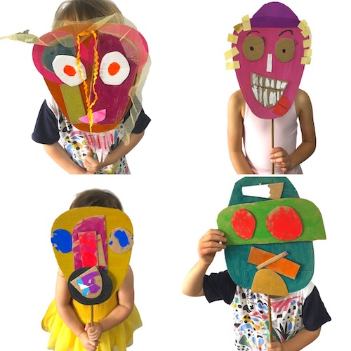Simple cardboard masks for kids